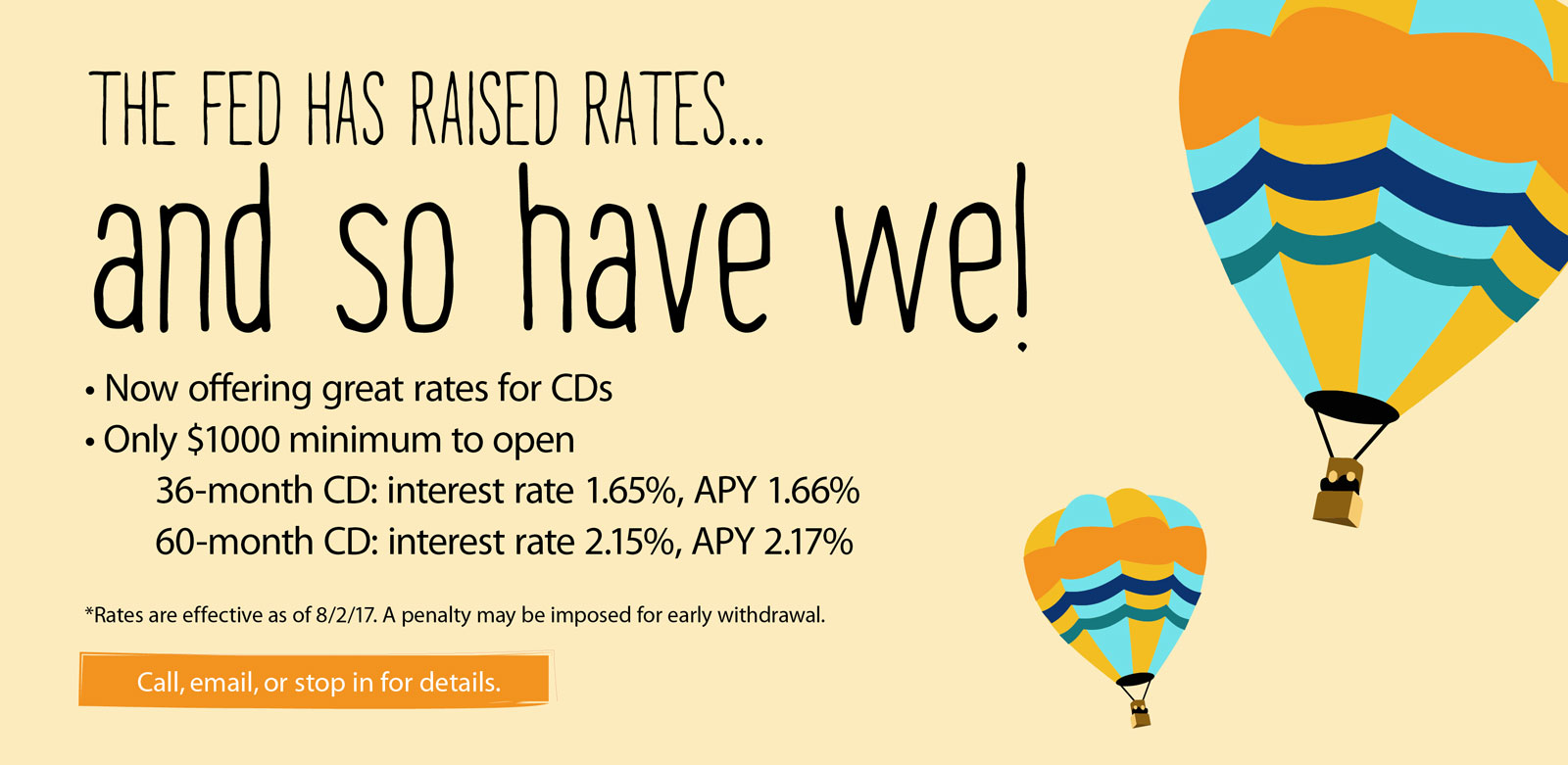 CD rates are on the move