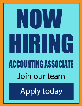 now hiring accounting associate
